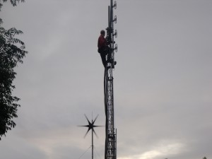 GB3WB with G1VSX up the mast