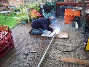 GB3WB Wind Turbine Pole Welding by G1VSX