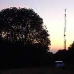 GB7WB Repeater Mast at Sunset in August