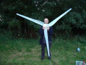 GB3WB New Wind Turbine Blades Ready For Fitting