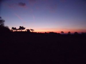 GB7WB Sunrise on Bleadon Hill