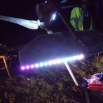 GB3WB wind turbine tail test LEDs