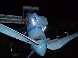 GB3WB wind turbine slip-ring test LEDs