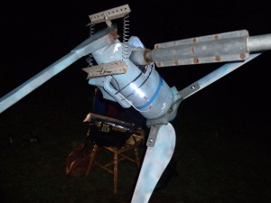 GB3WB wind turbine test LEDs with tail-pivot spring brackets