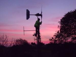 GB3WB sunrise tower climb featuring G1VSX