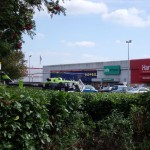 Air ambulance lands in PC world car park in Weston-super-Mare