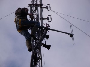 GB3WB Mast Locking Bracket Removal (GB3WB Mast Lowered To Repair Wind Turbine)