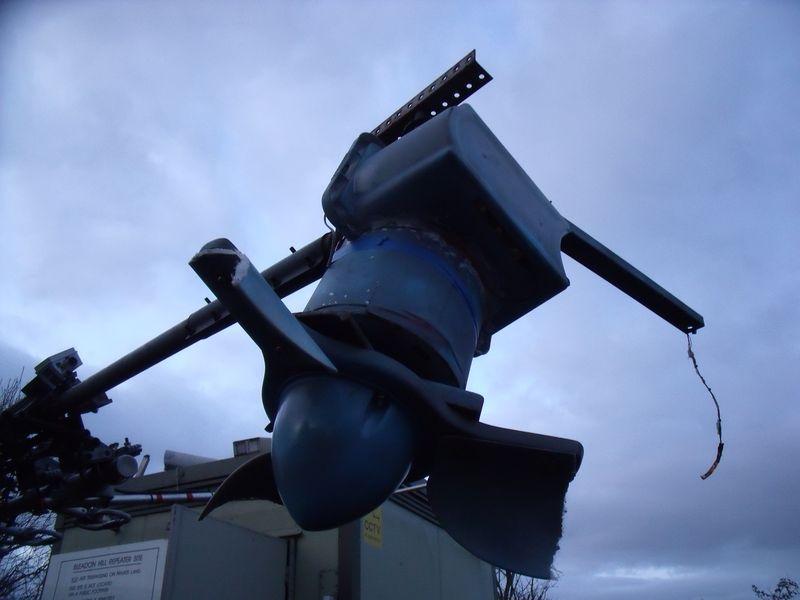 GB3WB Mast Lowered Closeup