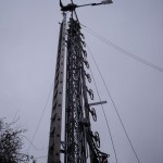GB7WB Ladder fitted to our tower