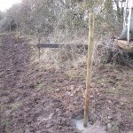 GB7WB new site fence posts