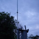 GB7WB Temporary Antenna On Very Short Mast!