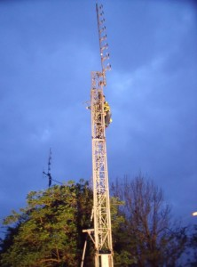 GB7WB 8-Stack back in the air on the remains of our tower
