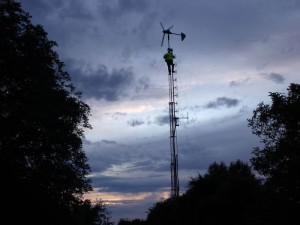 GB3WB mast at sunset
