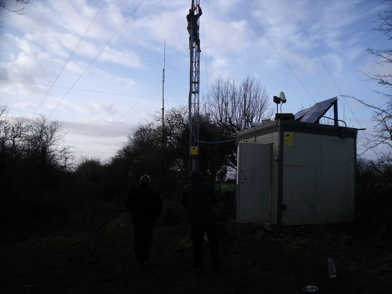 GB3WB Mast Lowering preperation