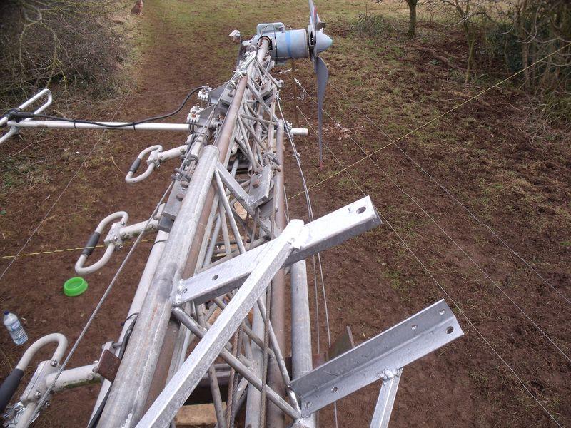 GB7WB Ladder brackets painted