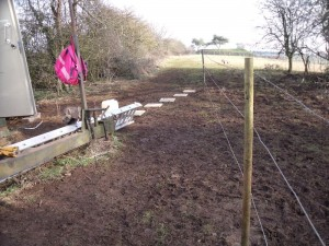 GB7WB new site fence and slabs